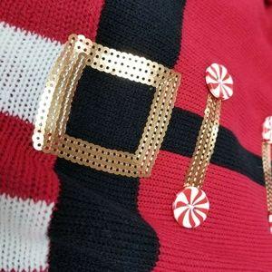 Planet Gold Dresses - Planet Gold Embellished Santa Sweater Dress Xmas